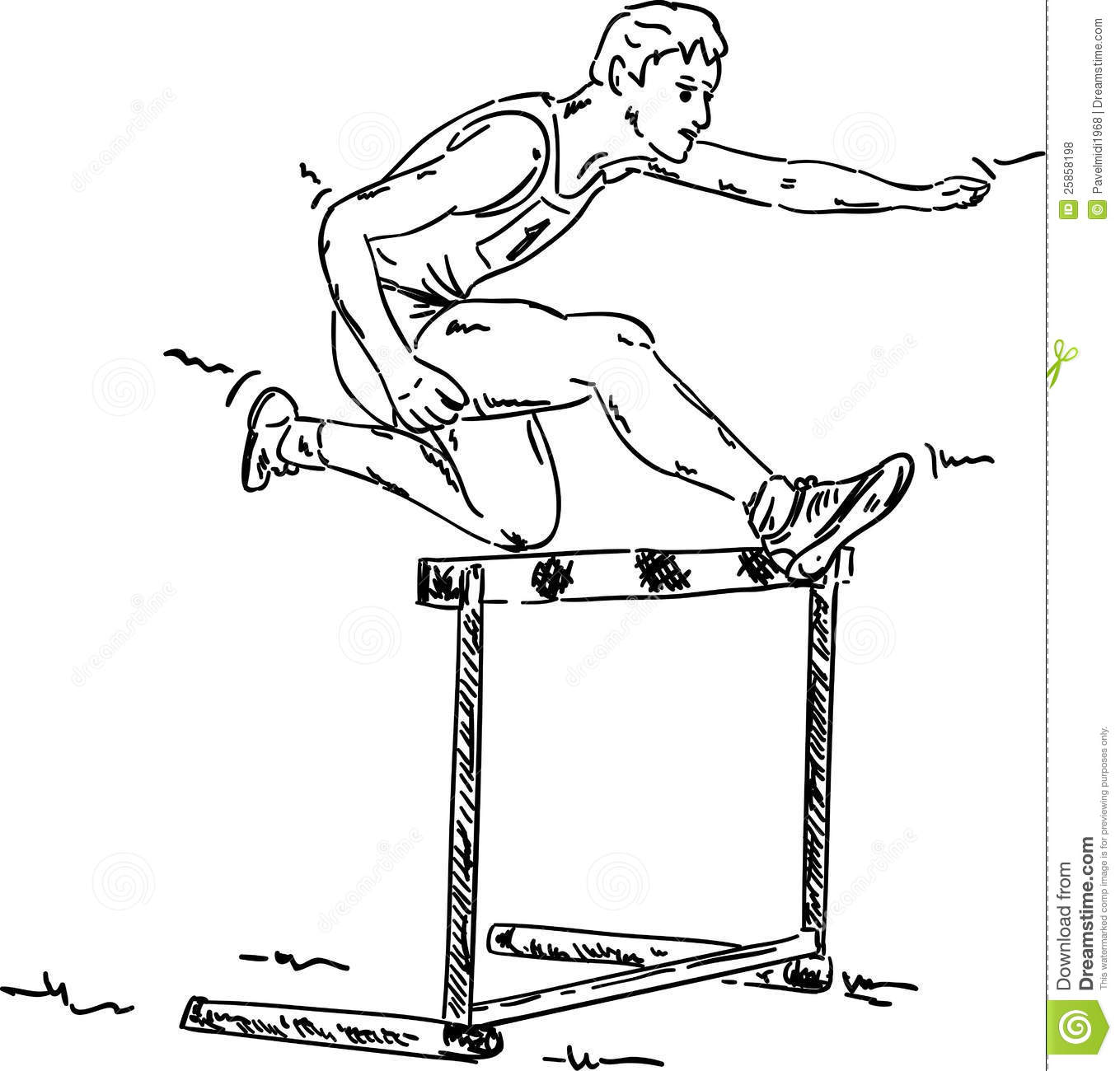 Male In A Hurdle Race Royalty Free Stock Photos