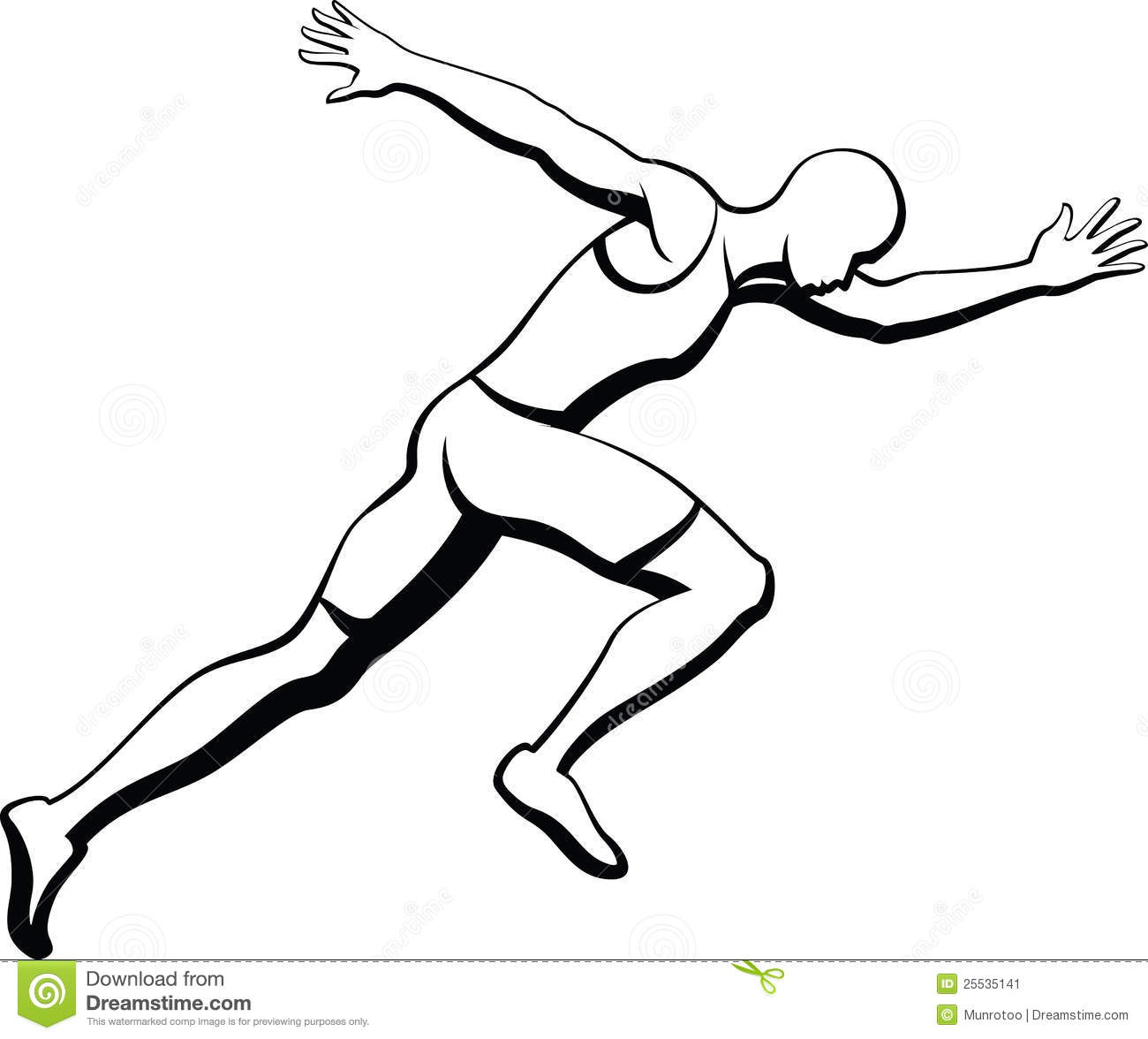 Male Sprinter Stock Image Image Of View Speed Side