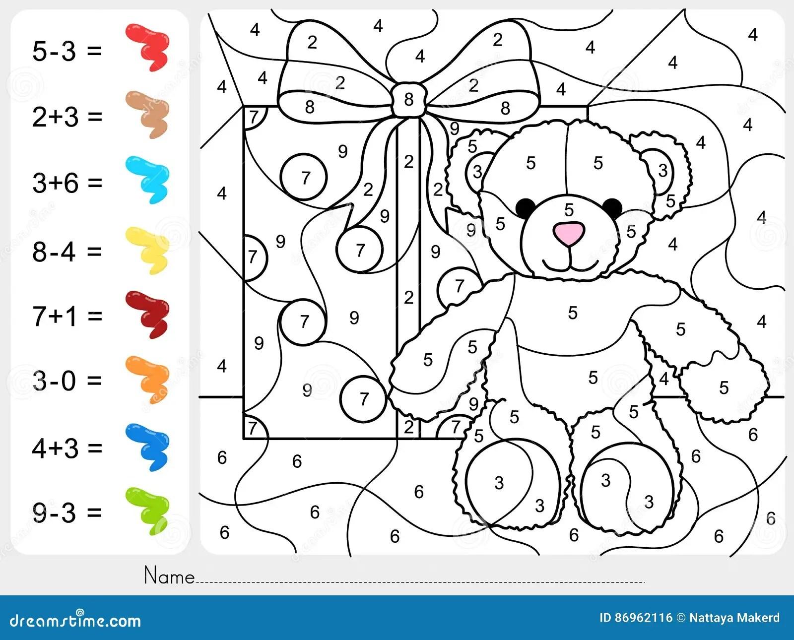 Malen Sie Farbe Durch Zahlen