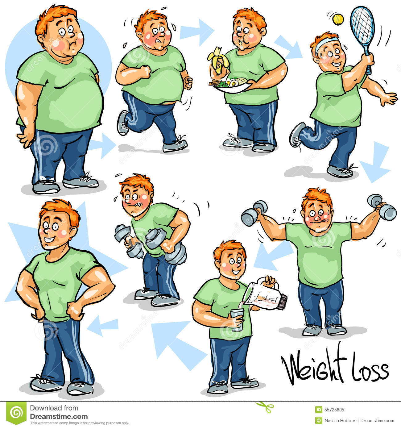 Man Achieving His Weight Loss Goal Stock Photo