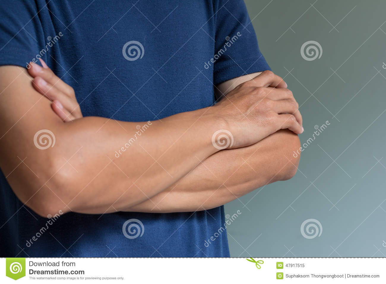 Man With Arms Crossed Stock Image Image Of Male