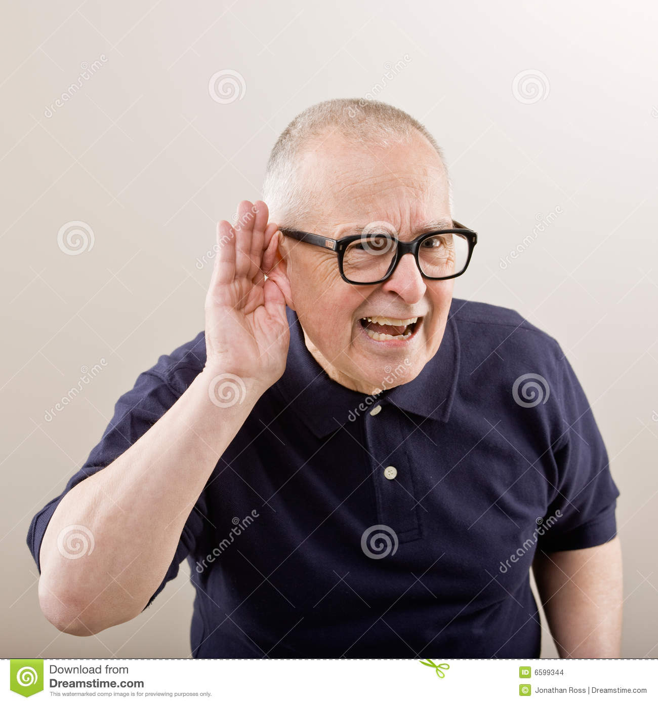 Man Cupping His Ear Stock Photo Image Of Hearing Adult