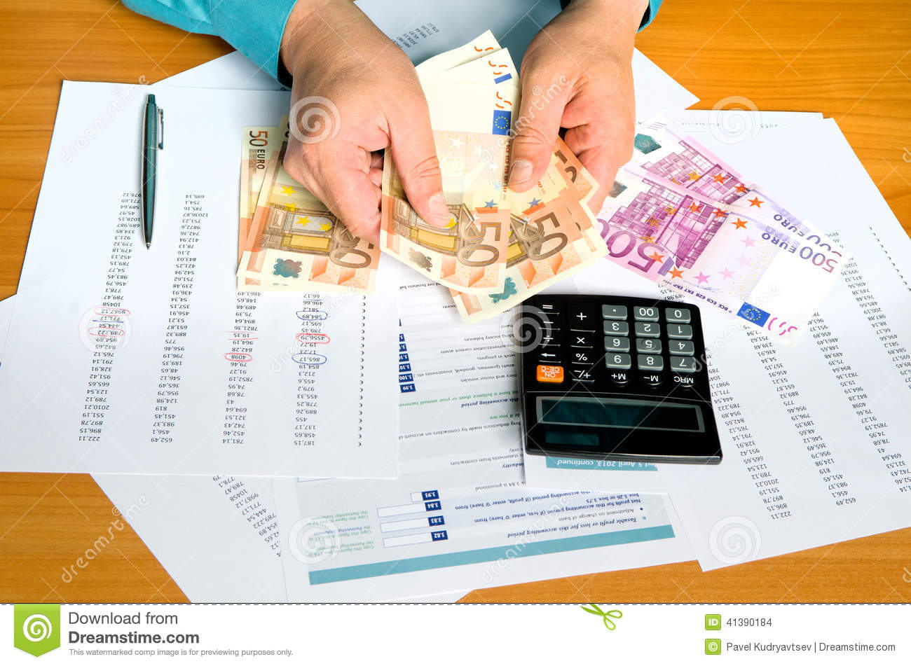 Man Hands Counting Money Stock Photo Image Of Background