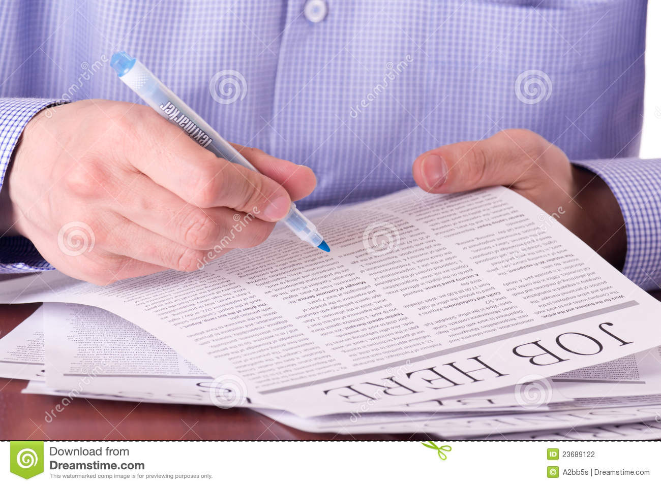 Man Reading A Newspaper Stock Photo Image Of Article