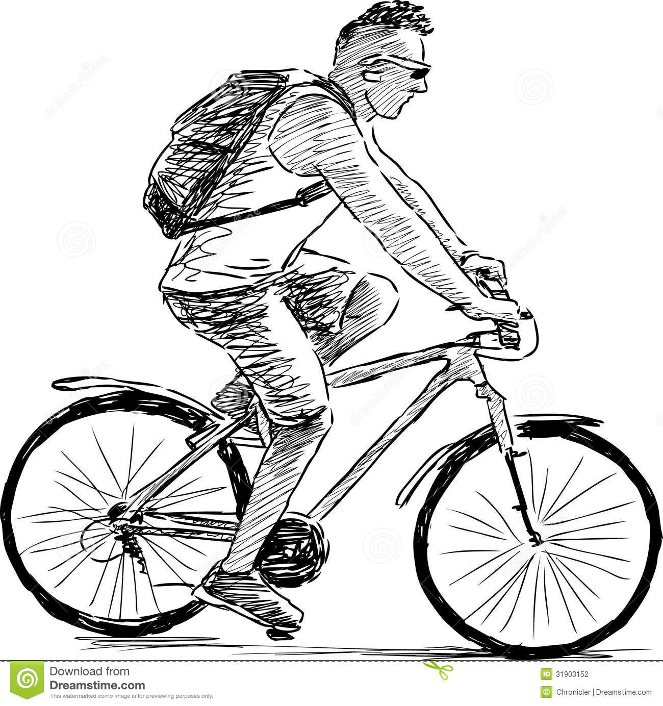 Man Riding A Cycle Stock Photography