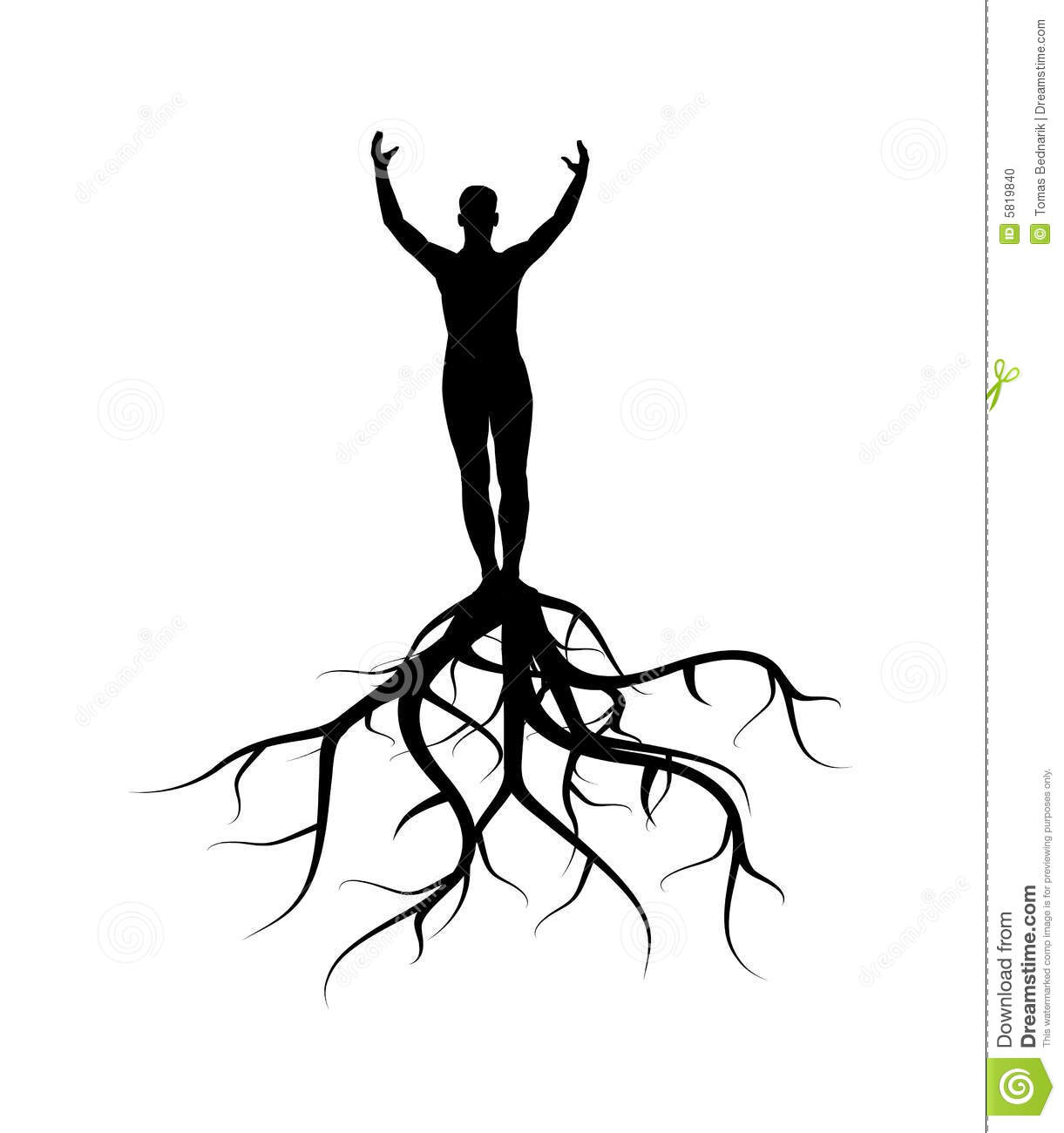 Man With Roots Stock Vector Illustration Of Tree Prayer