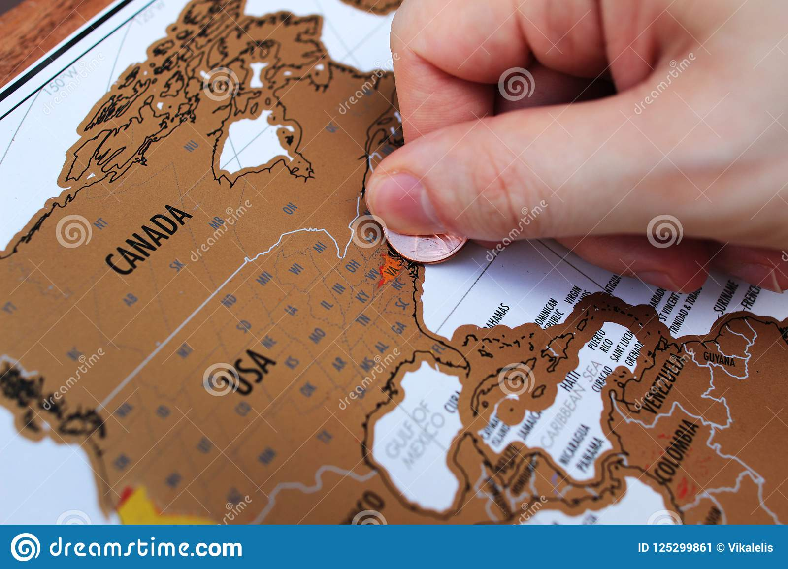 We see them every day, we use them when we travel, and we refer to them often, but what is a map? Man S Hand Scratching Off Visited Places On A Map Stock Image Image Of Trip Tourist 125299861