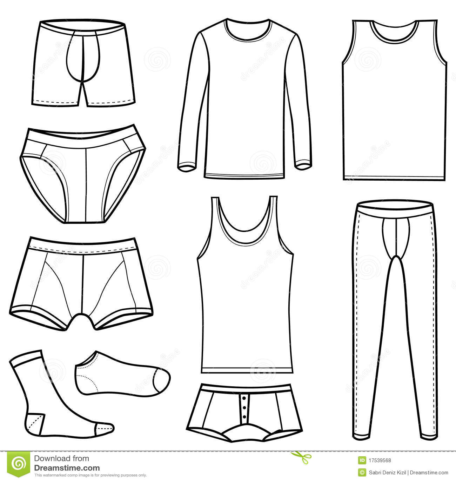 Man S Underwear Vector Stock Vector Illustration Of Black