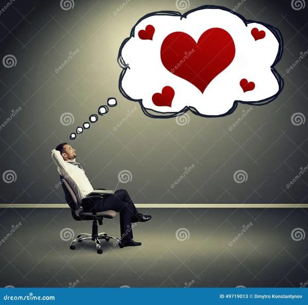 Man thinking about love stock illustration. Illustration ...