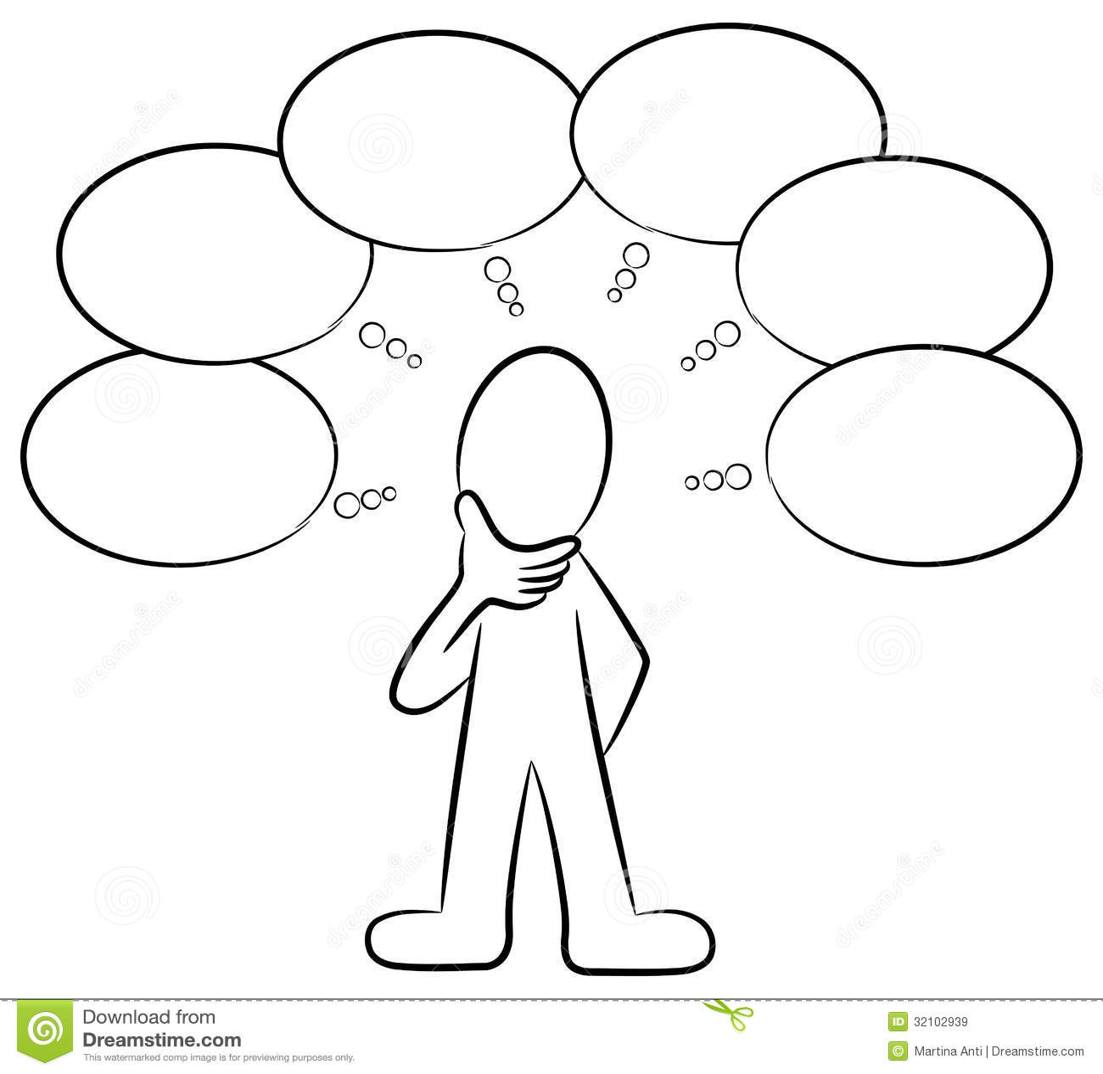 Man Thinking Stock Vector Illustration Of Asking Speech
