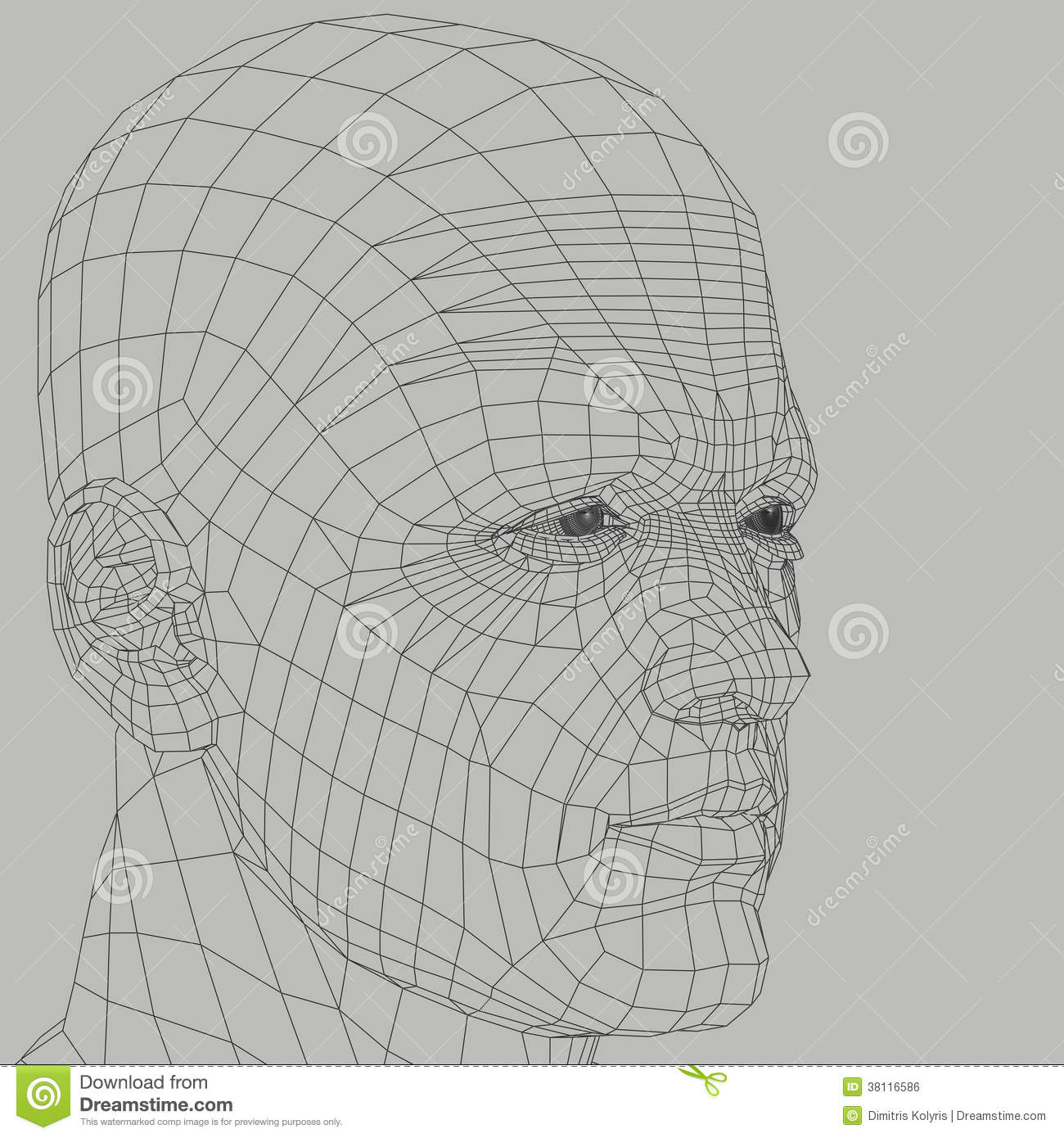 Man Wireframe Illustration Stock Illustration Image Of