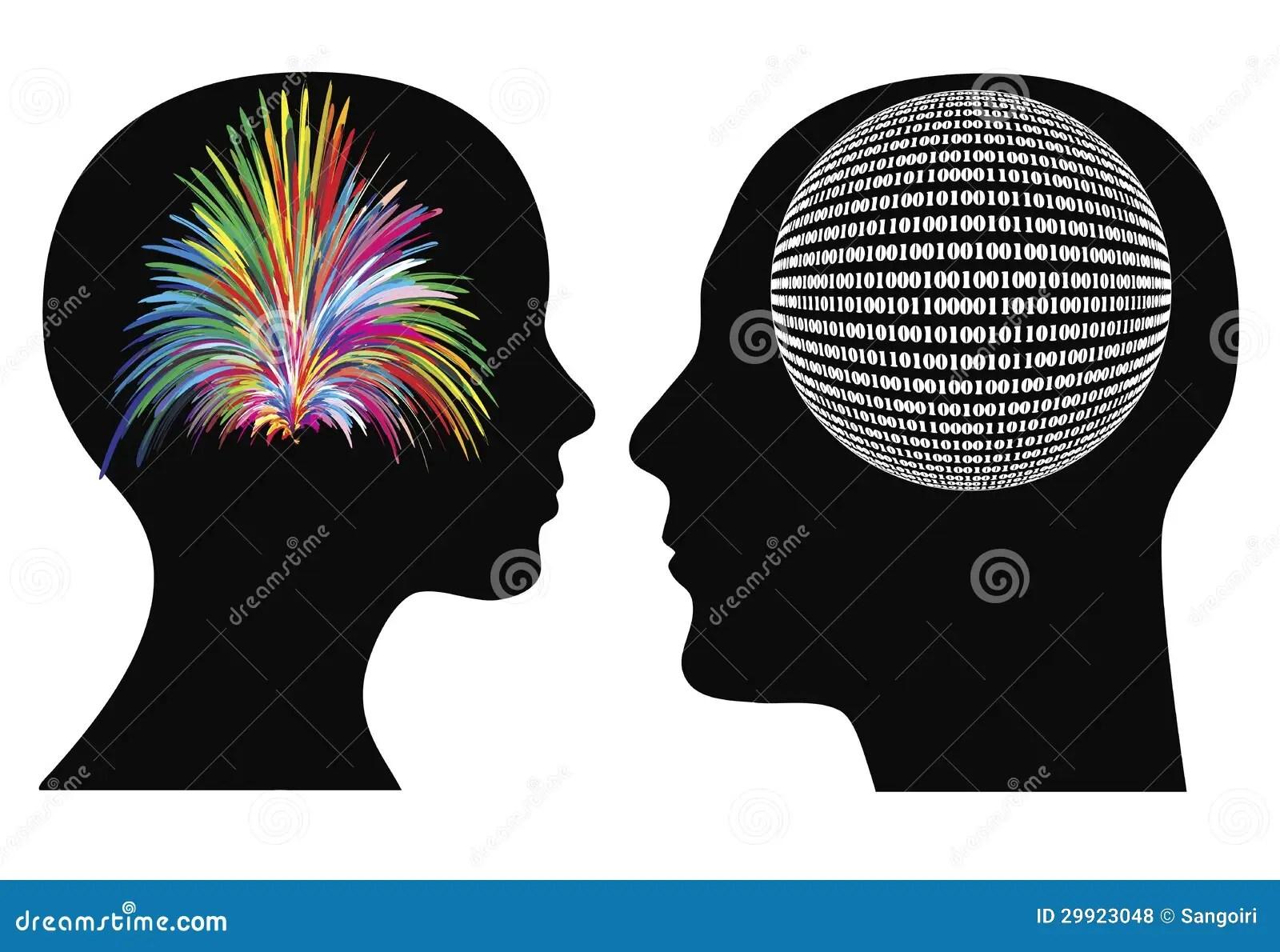 Different Ways Of Thinking Stock Vector Illustration Of Brain