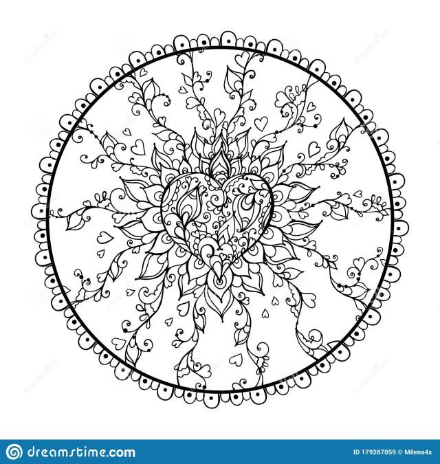 Mandala Art for Meditation, Color Therapy, Adult Coloring Pages