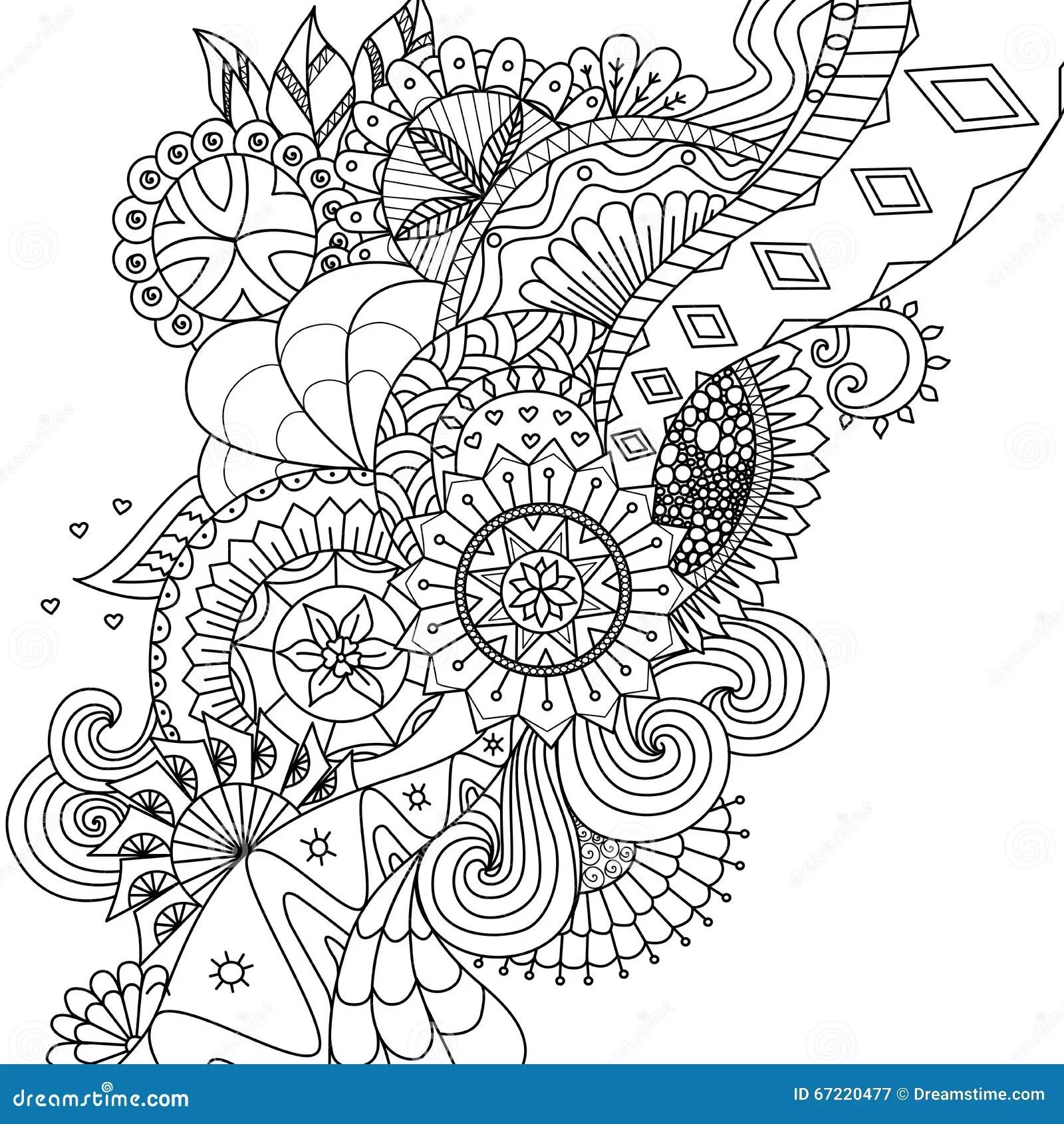 Mandala Blht Fr Malbuch Fr Erwachsene Oder Hintergrund