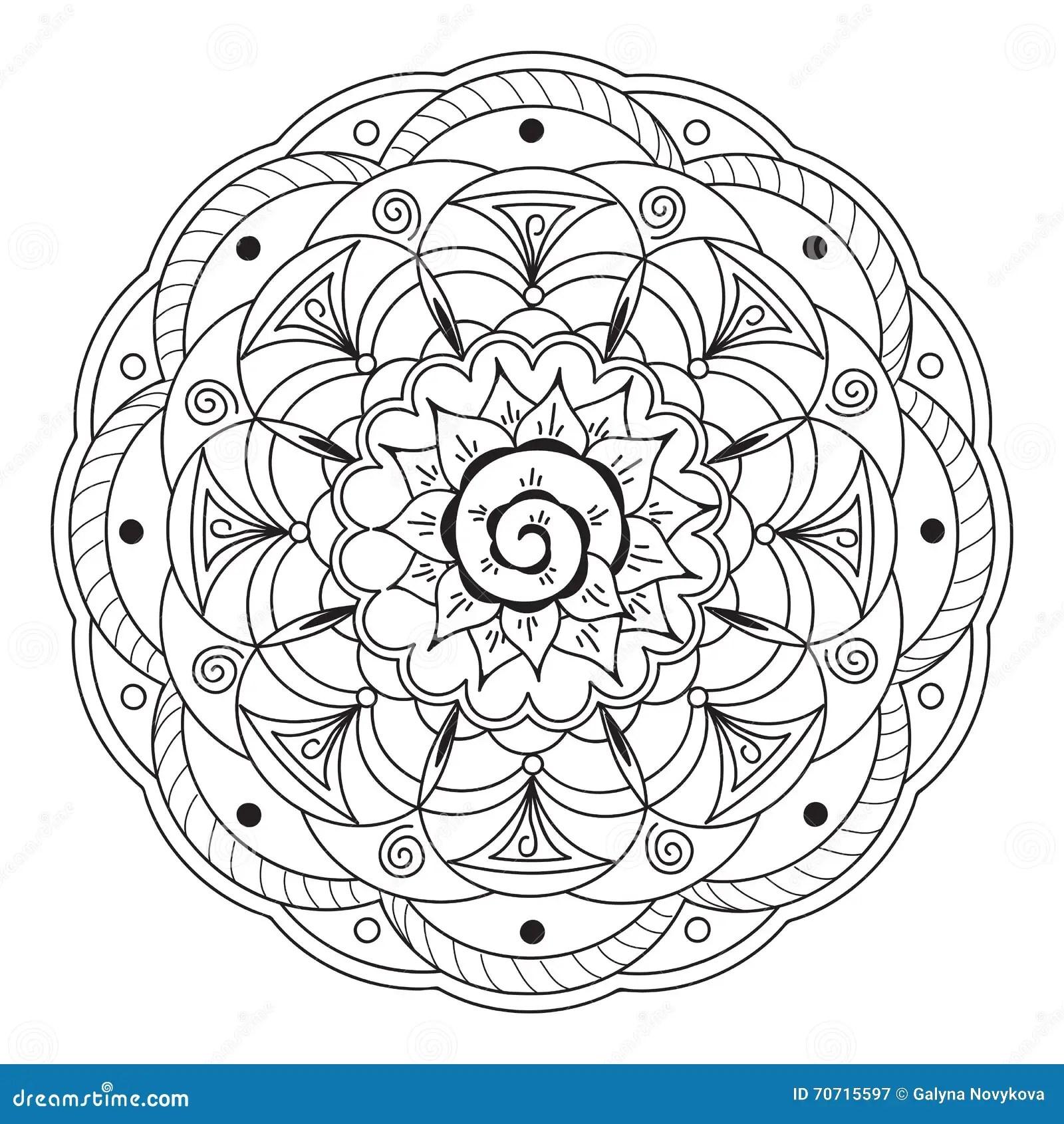 Mandala With Hand Drawn Elements Stock Vector