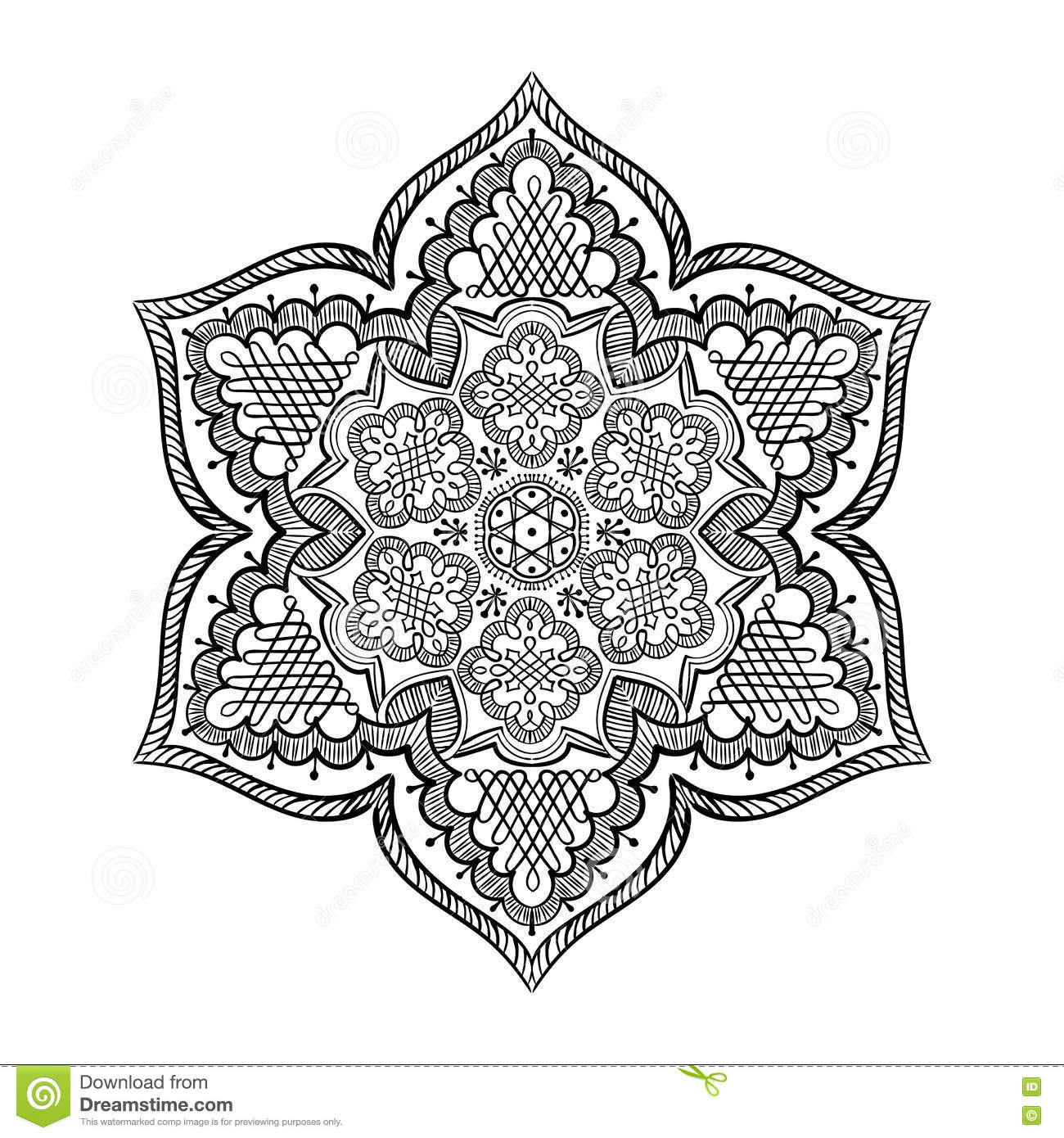 Mandala Kolam Rangoli Stock Vector Illustration Of Design