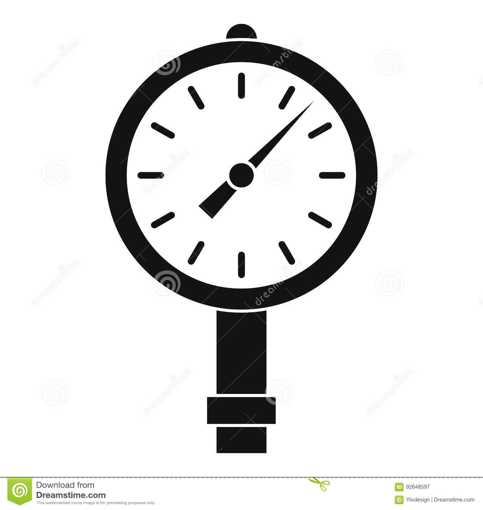 Manometer Or Pressure Gauge Icon Simple Stock Vector