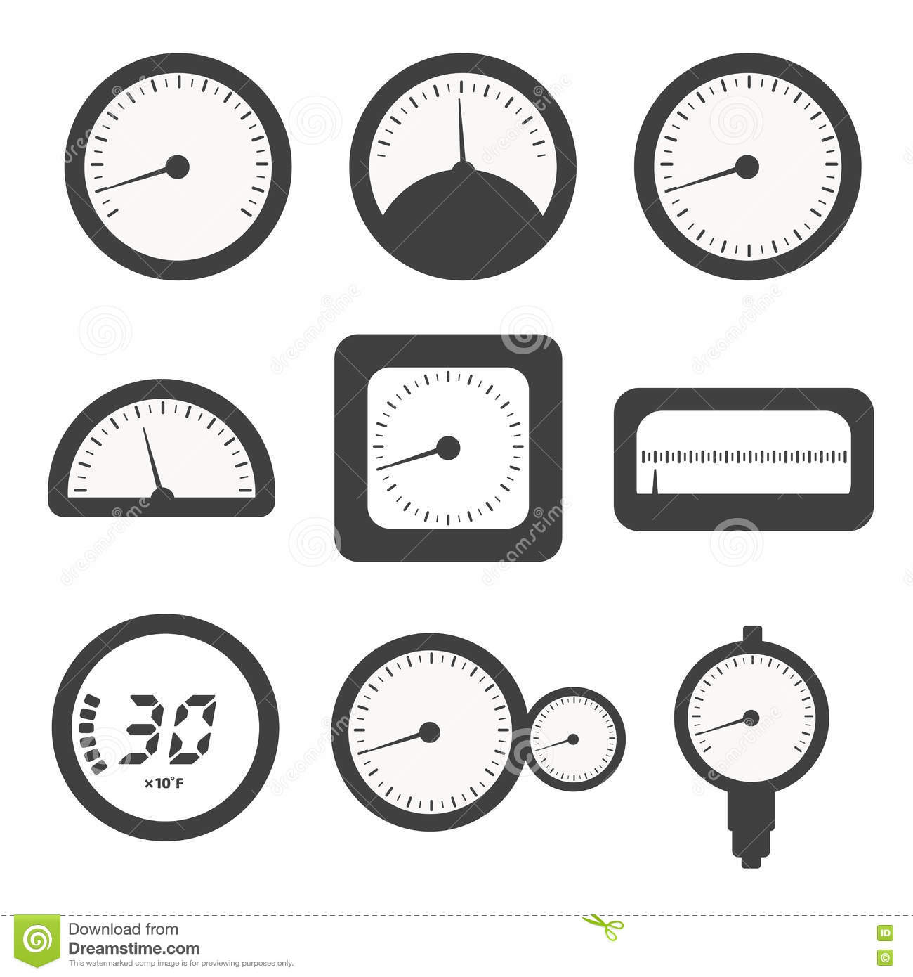 Pump With Pressure Gauge Vector Icon Cartoon Vector