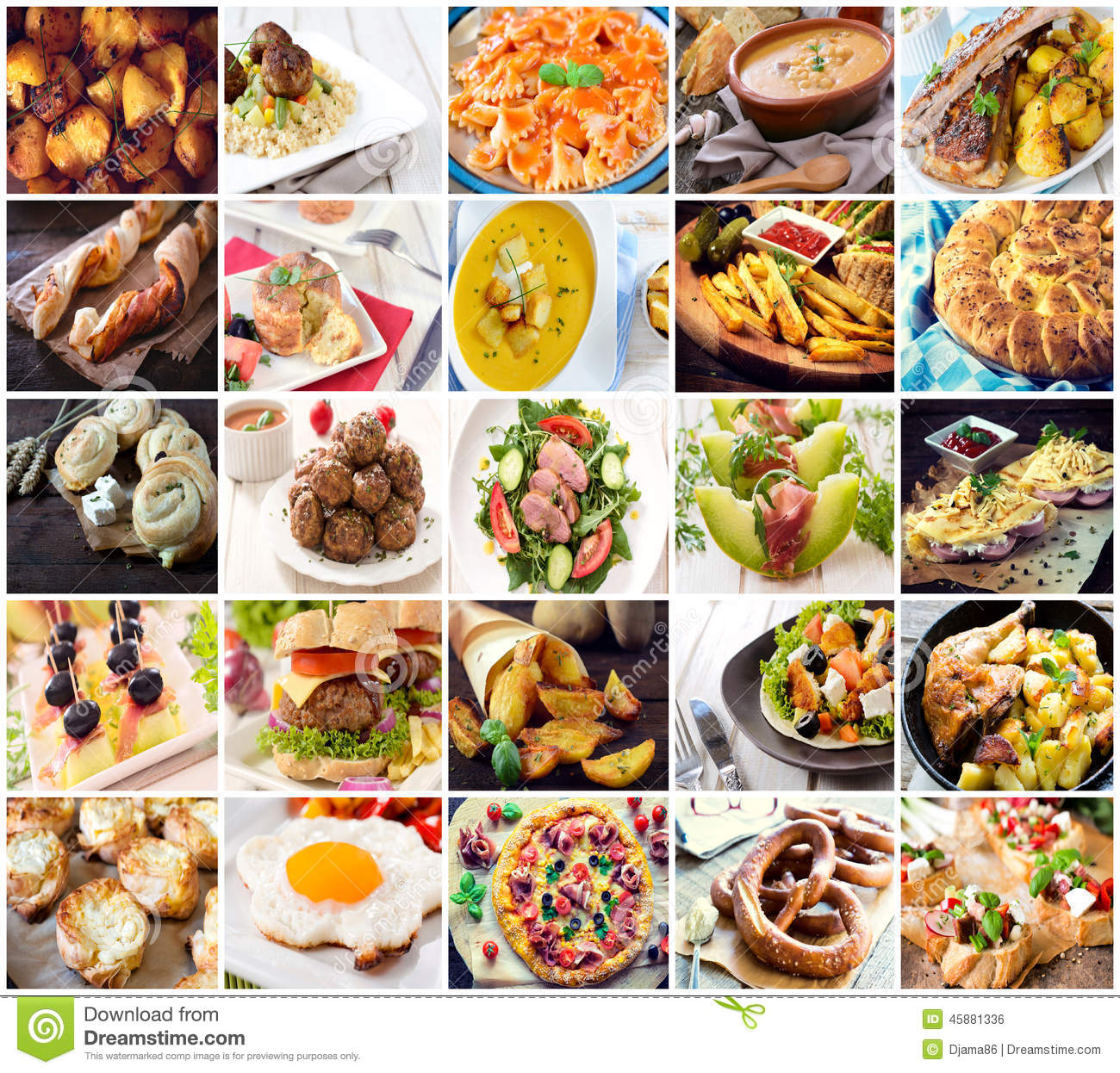 Many Kind Of Different Food Stock Photo