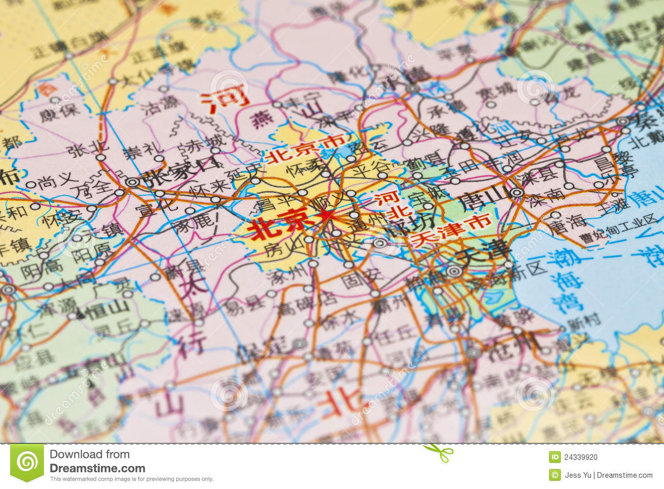 Map China Blank Stock Images