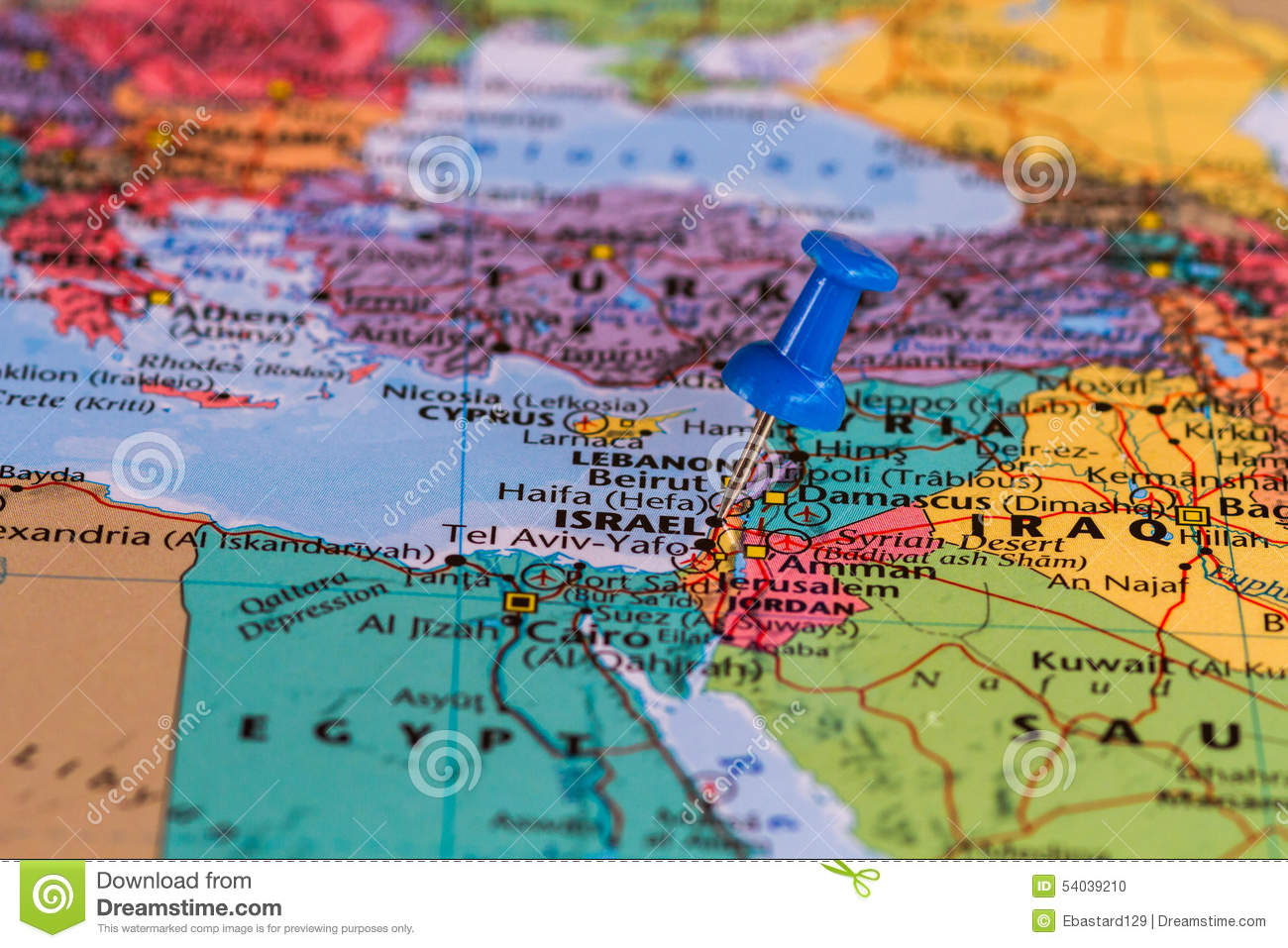 Map Of Israel Stock Photo Image Of Page Start Geography