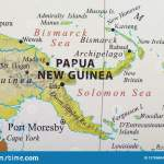 Map Of Papua New Guinea Stock Photo Image Of Beaches 127896846