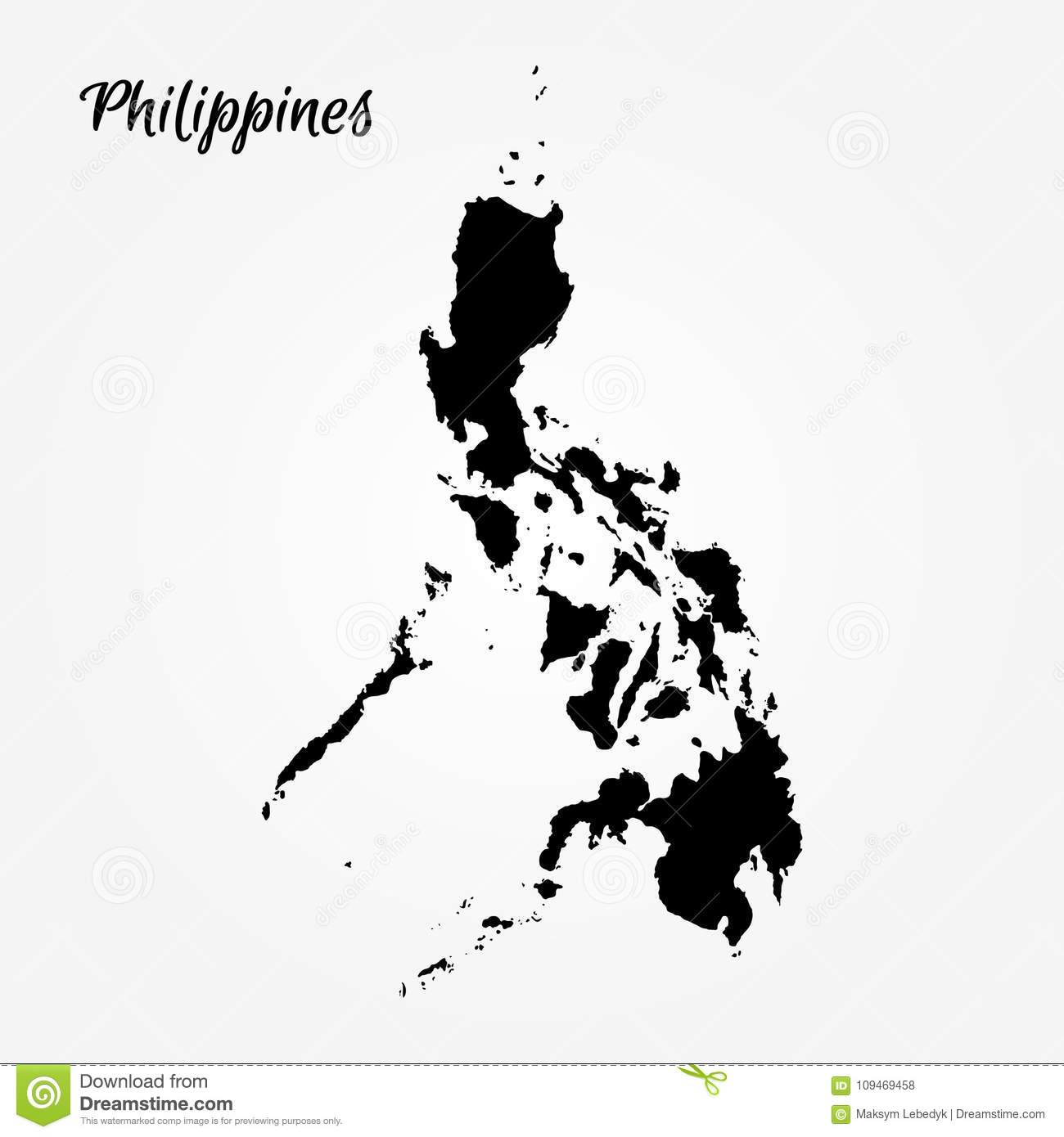 Map Of Philippines Stock Illustration Illustration Of