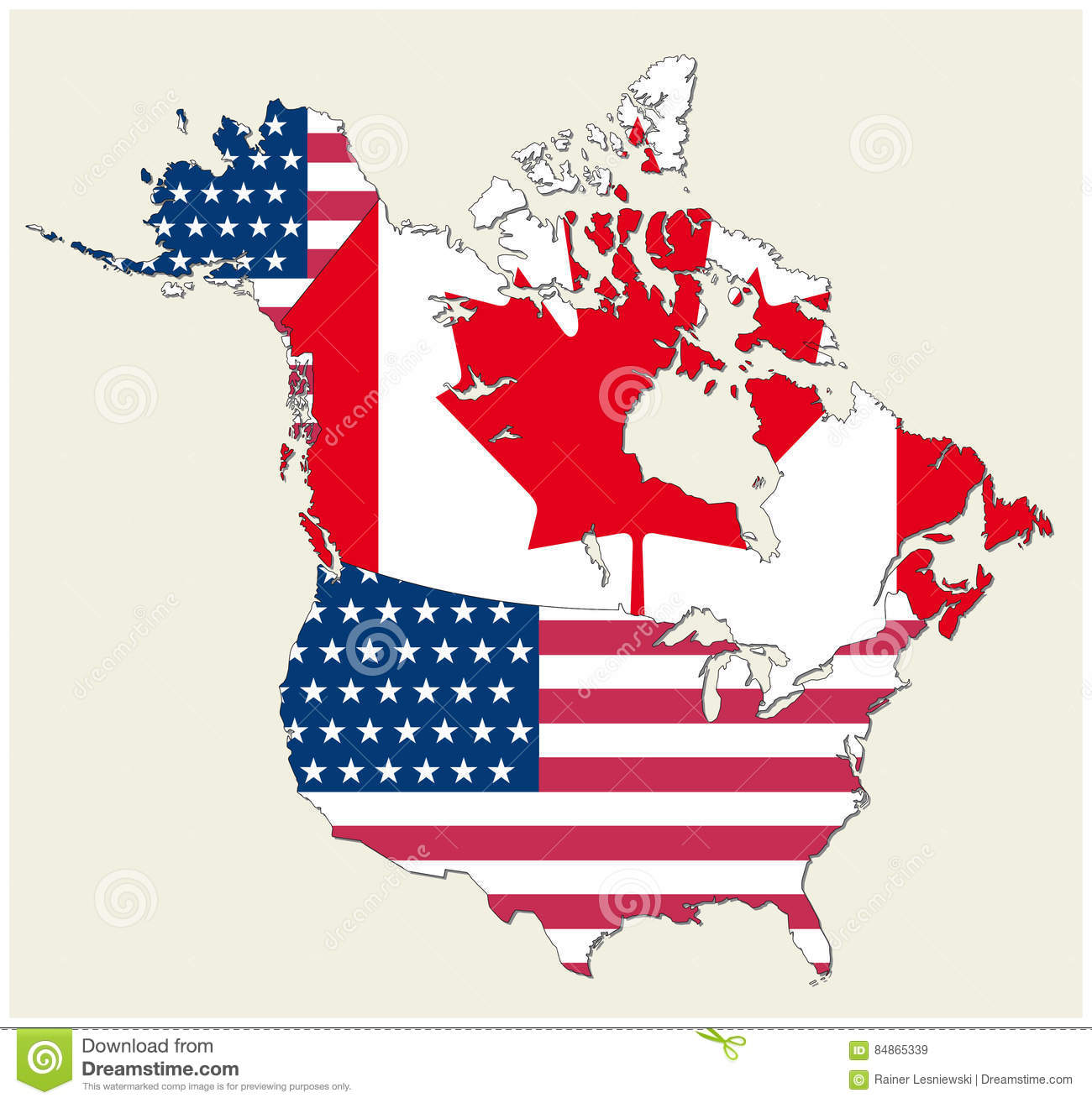 State flag map of the u.s (united states): Usa Canada Flag Map Stock Illustrations 2 154 Usa Canada Flag Map Stock Illustrations Vectors Clipart Dreamstime