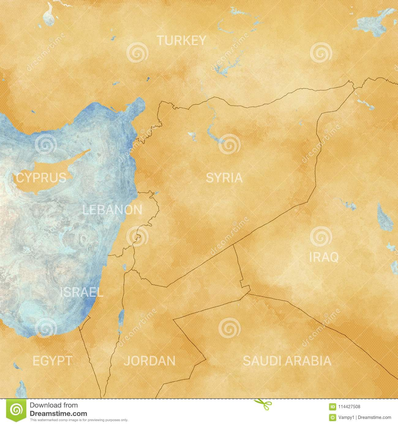 Map Of Syria And Borders Physical Map Middle East
