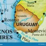 Map Of Uruguay Stock Image Image Of Uruguay City Salto 173520621