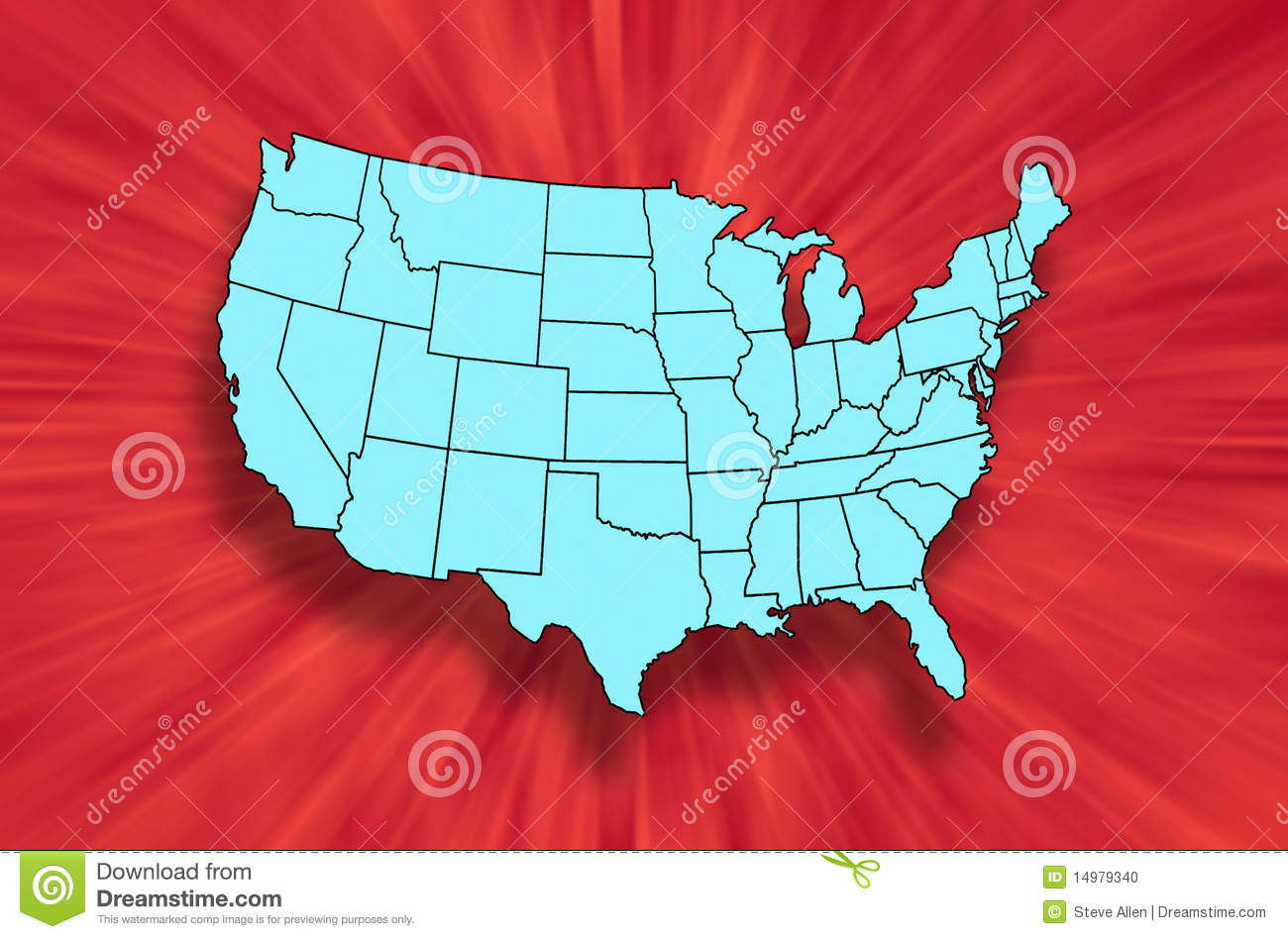 Map of US Mainland States stock illustration  Illustration of maps     Download Map of US Mainland States stock illustration  Illustration of maps    14979340