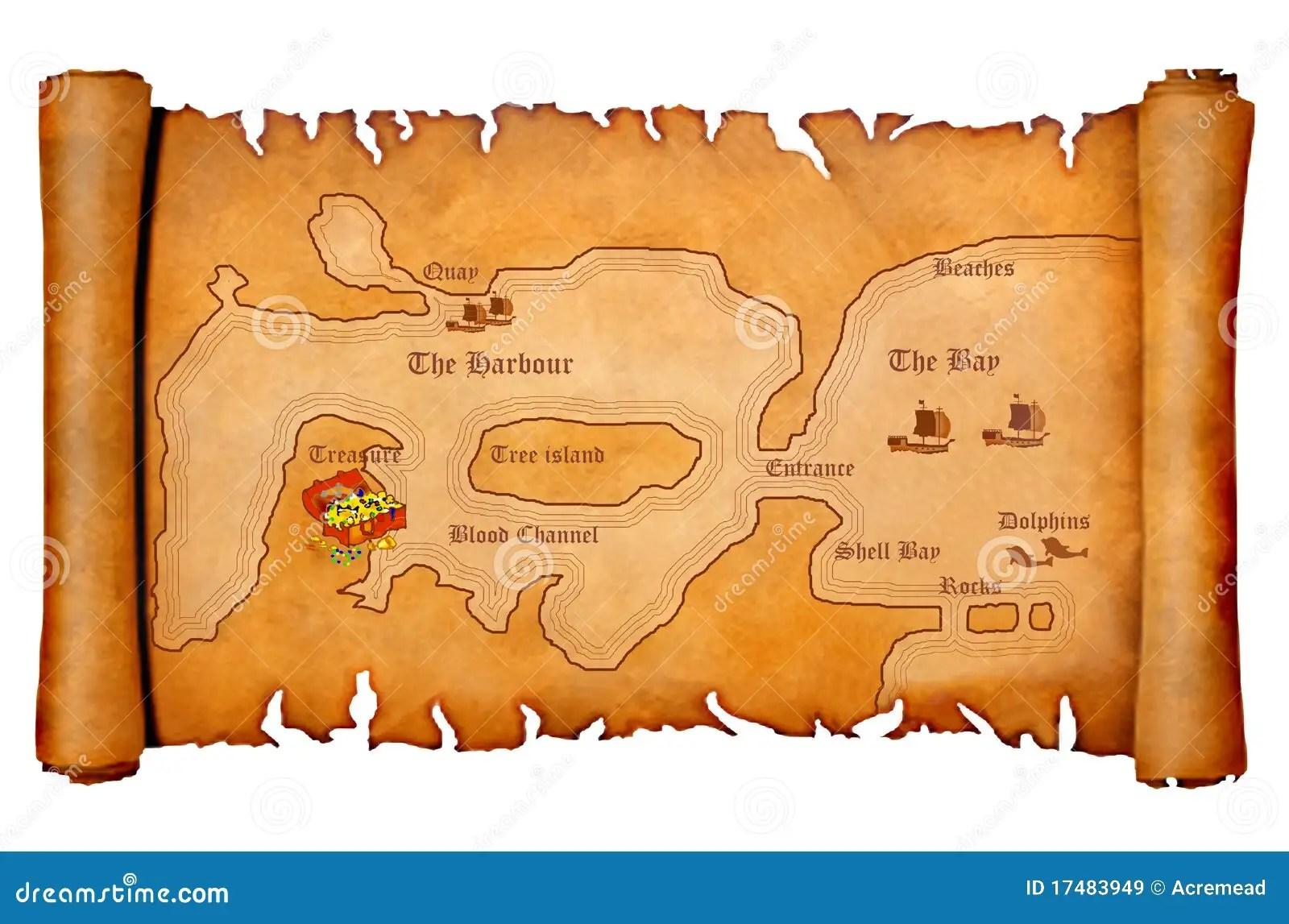 Mapa Do Tesouro Do Pirata Ilustracao Stock Ilustracao De