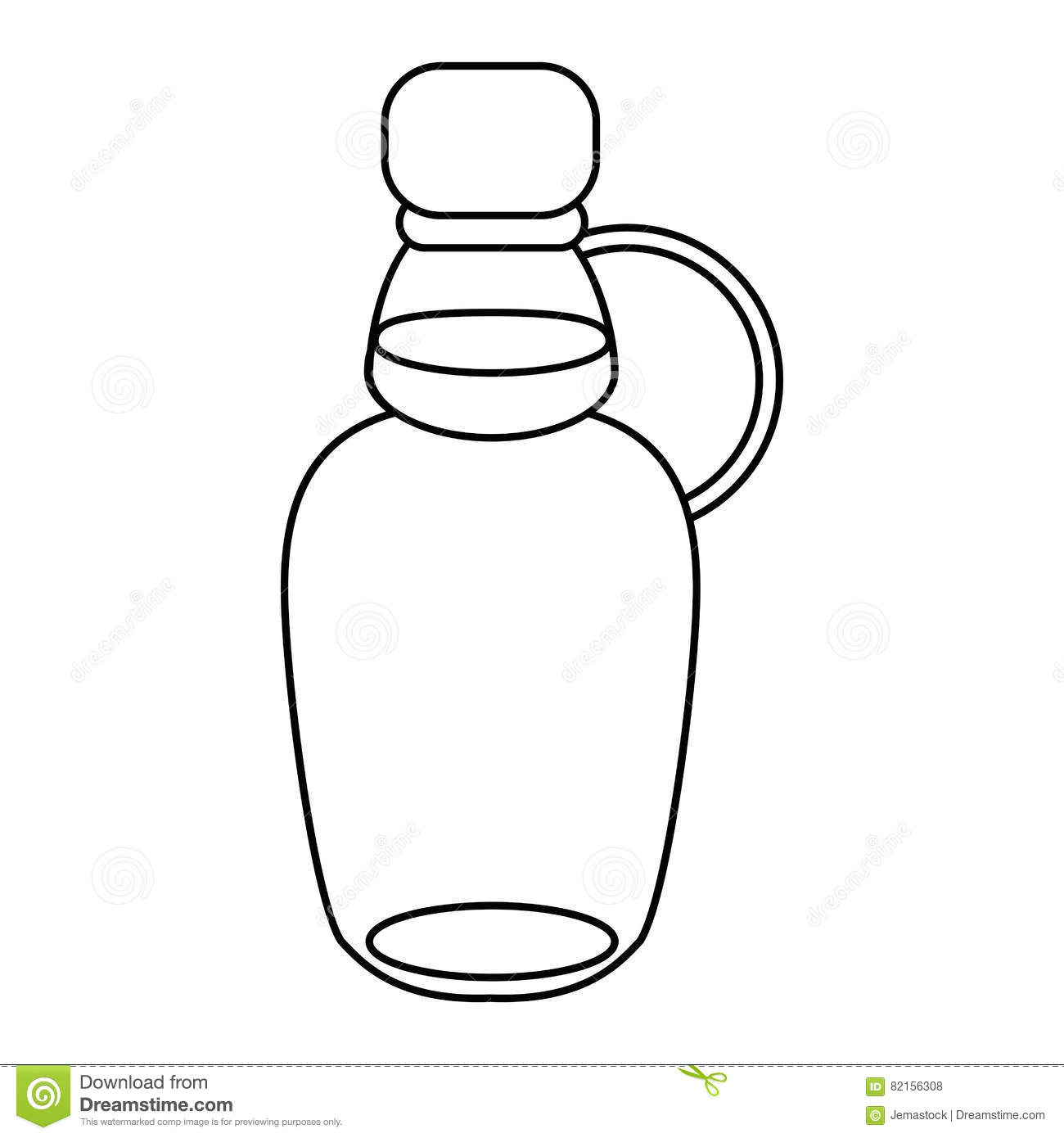 Maple Syrup Bottle Traditional Outline Stock Vector
