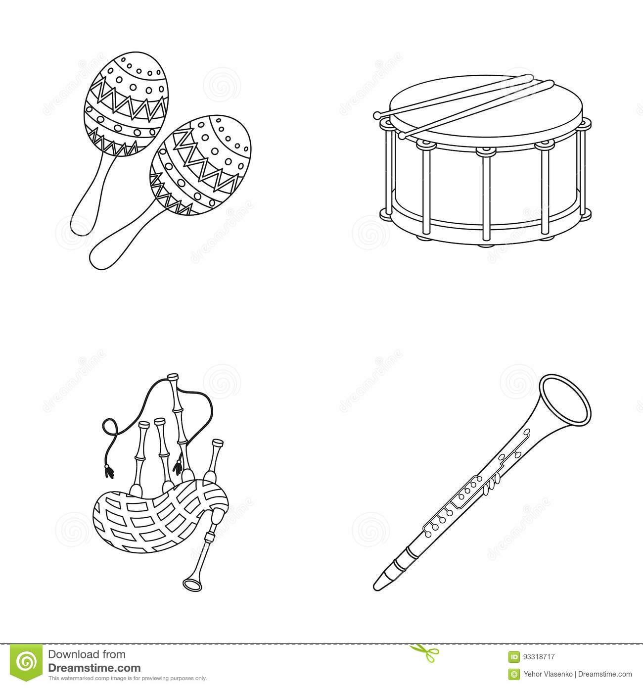 Bagpipe Clipart