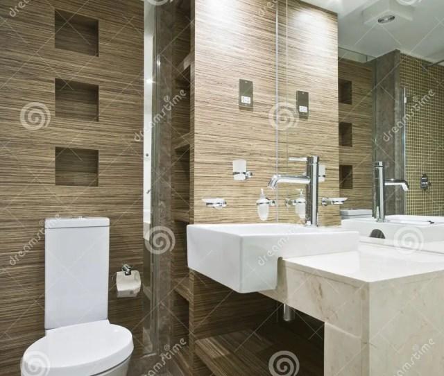 Marble Bathroom With Mosaic Tiles