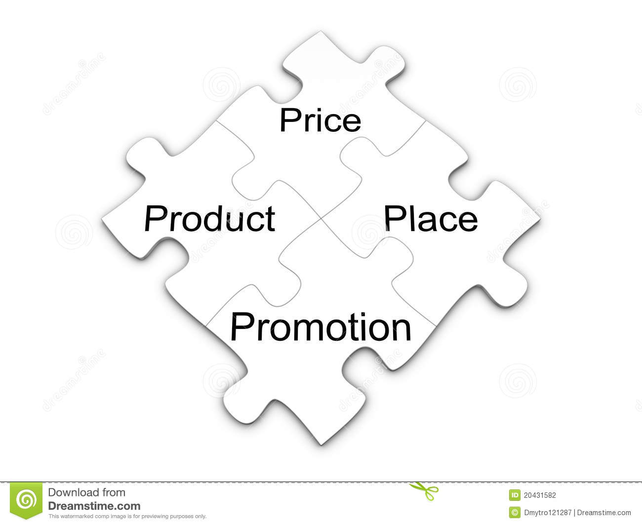 Marketing Mix Puzzle The 4p S Concept Stock Photography