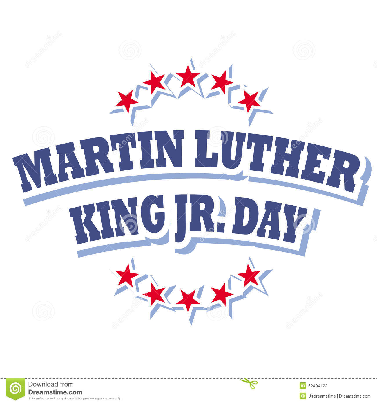Martin Luther King Jr Day Logo Stock Vector