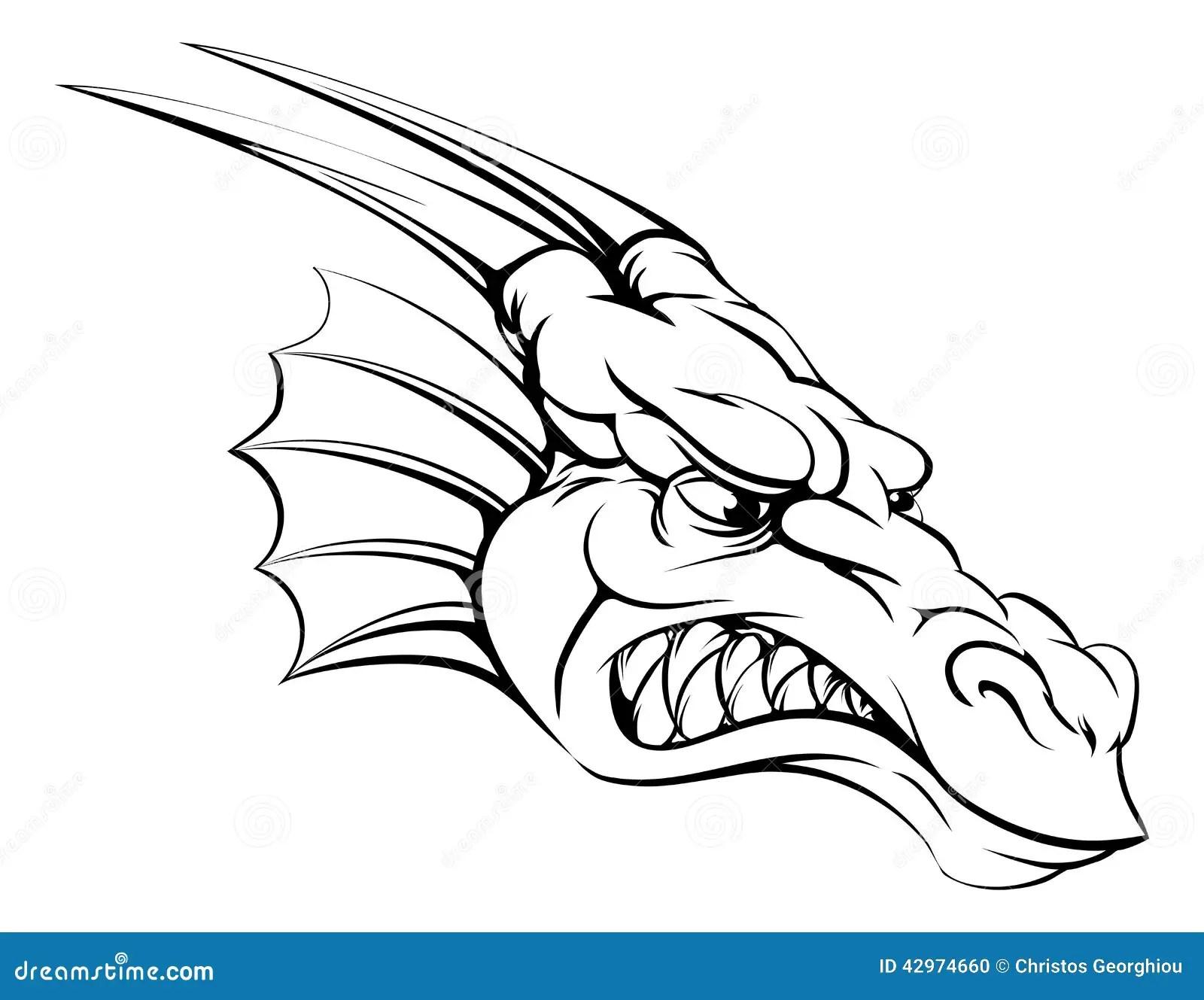 Mascotte De Dragon Illustration De Vecteur