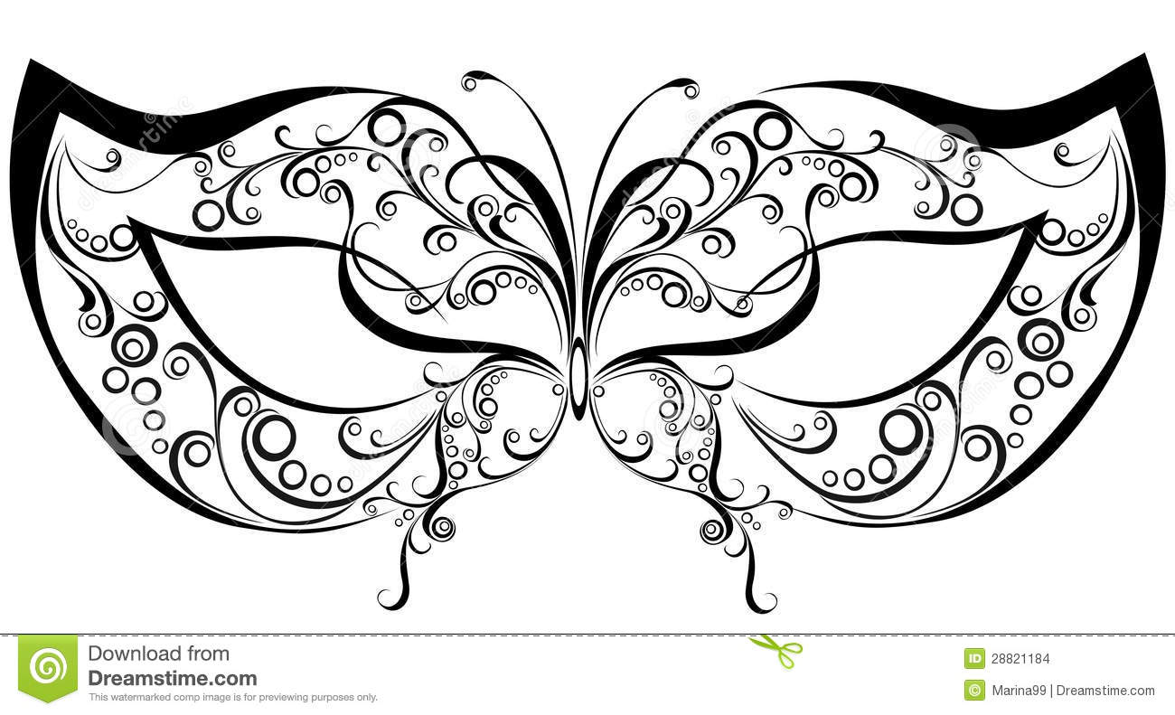 Fashion Template Coloring Pages Masquerade