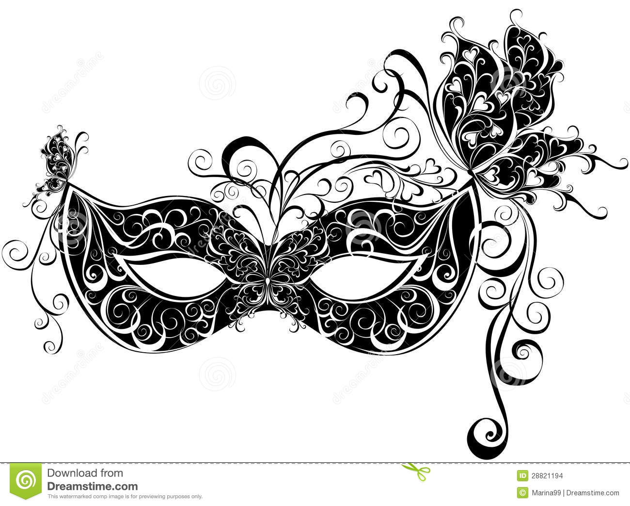 Masks For A Masquerade Stock Vector Illustration Of