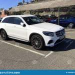 White Mercedes Benz Glc Suv Editorial Photography Image Of Maspalomas Road 136353912