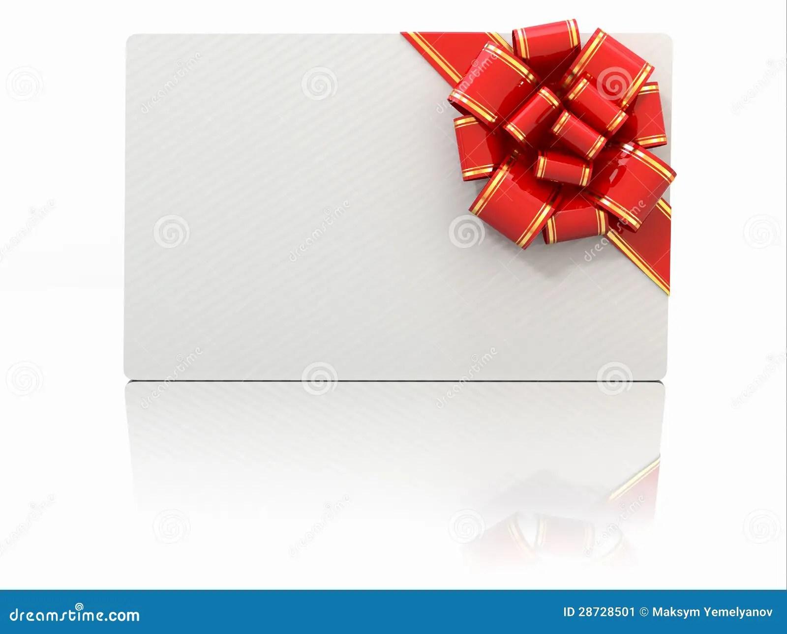 Masquez Le Chque Cadeau Avec La Bande Et Cintrez L