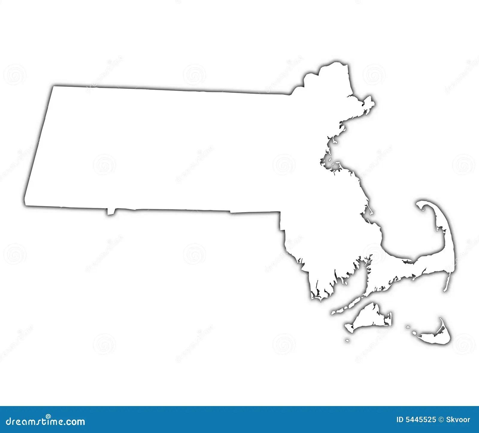 Massachusetts Usa Map Royalty Free Stock Photo