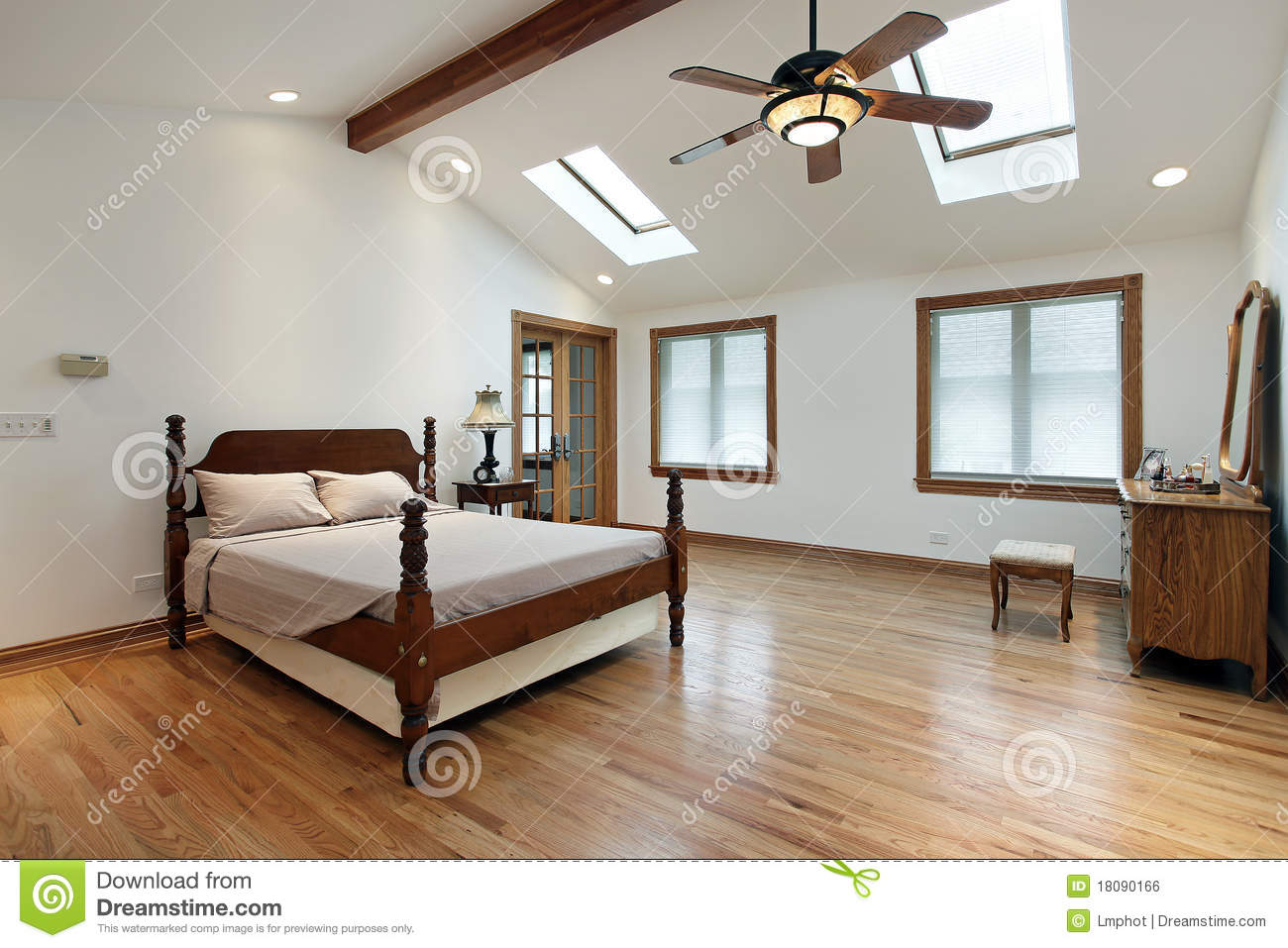 Master Bedroom With Skylights Stock Photo Image Of