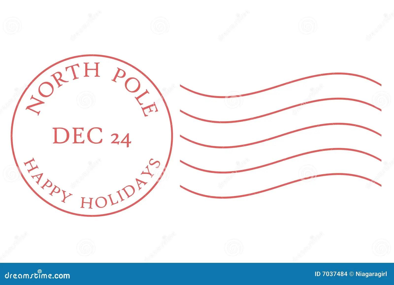 Matasellos De Polo Norte Ilustracin Del Vector Imagen De