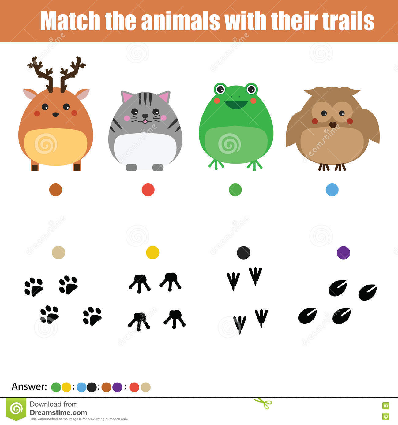 Trace Game For Kids Cartoon Vector