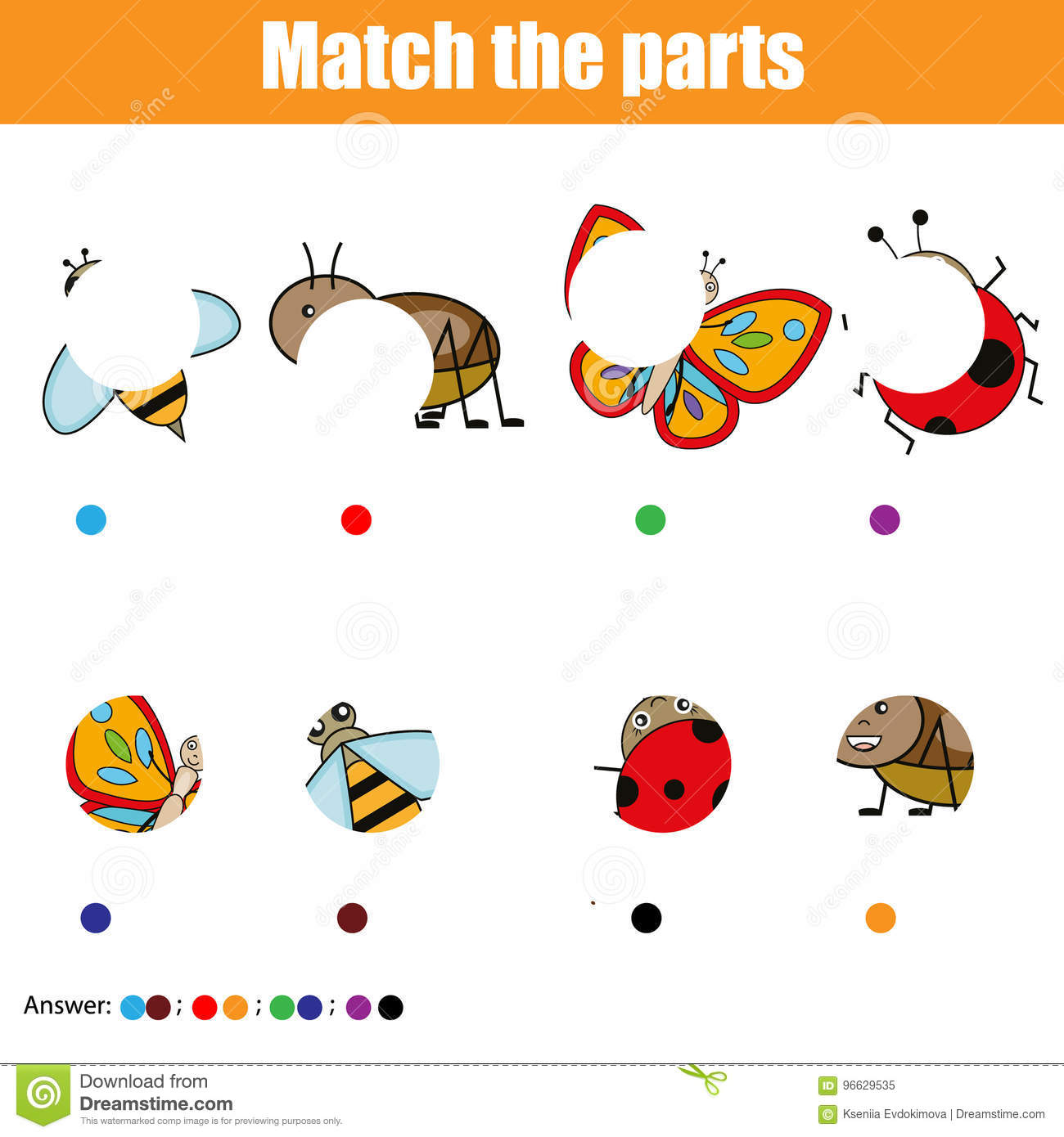 Insect Parts Worksheet For Preschoolers