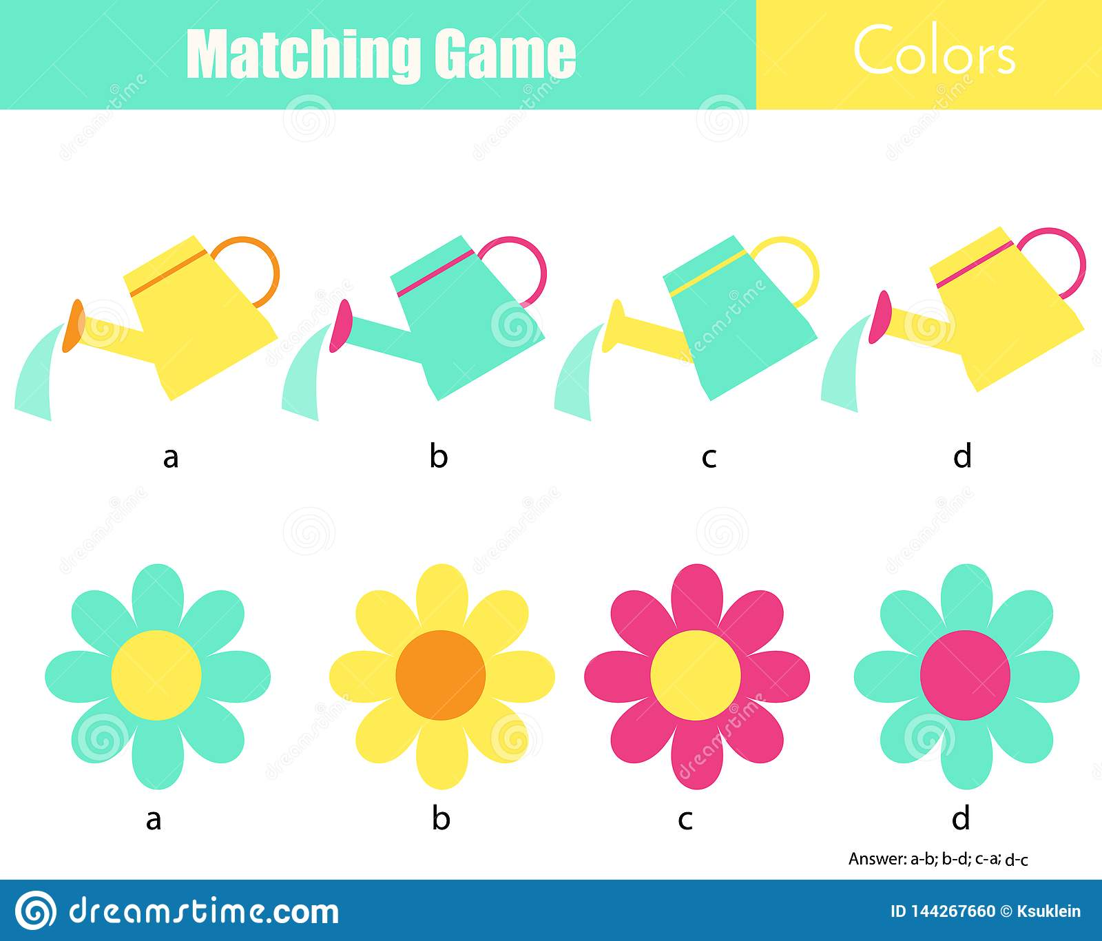 Educational Game For Children Connect The Parts Cartoon