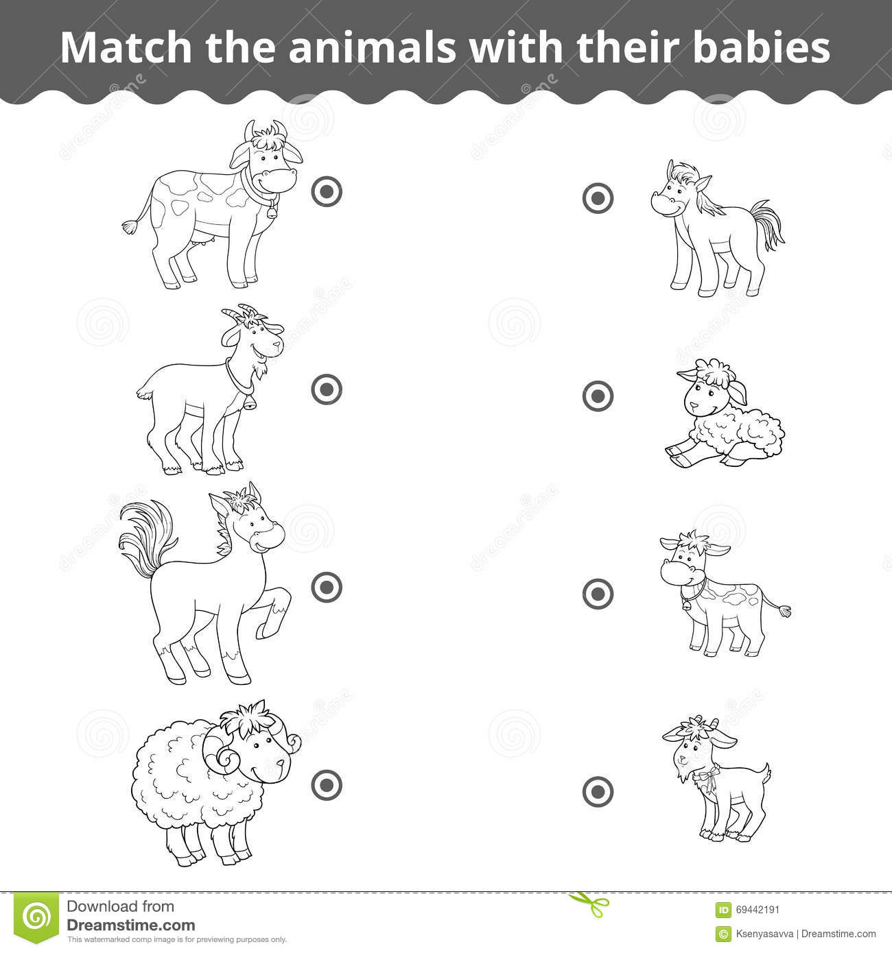 Barn Farm Animal Worksheet