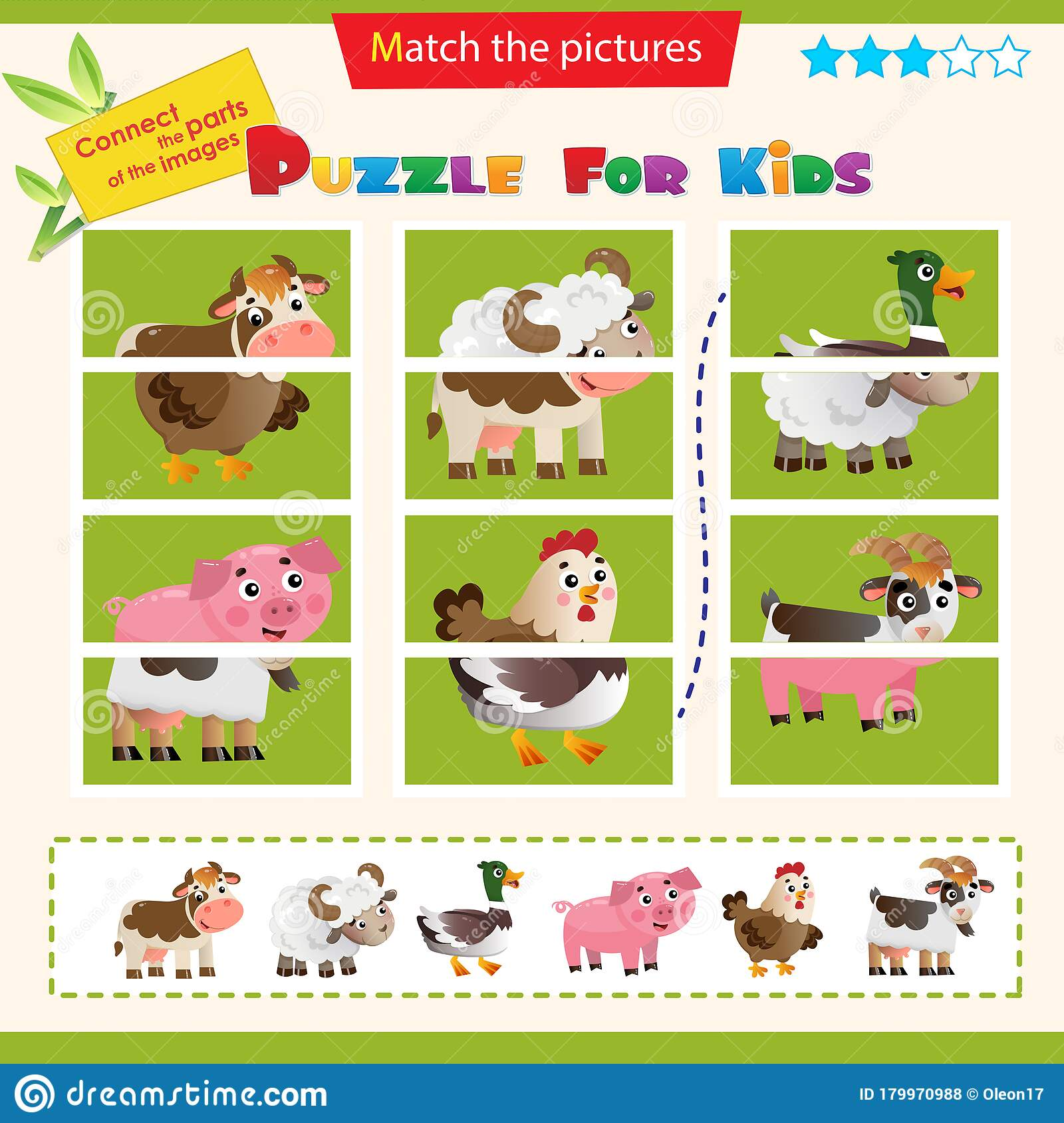 Matching Game For Children Puzzle For Kids Match The